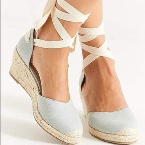 Light Blue Wedge Urban Outfitters espadrilles